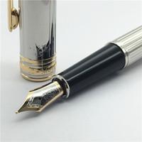 ingrosso fontane-penna stilografica classica in metallo nero Pennino di medie dimensioni con pennino Iraurita Office mb Materiale scolastico