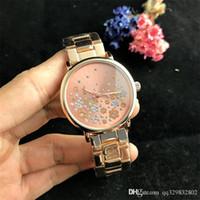 vestidos de ouro design venda por atacado-diamante relogio feminino nova moda senhora projeto rosa vestido de ouro senhoras marca de alta final relógios mulheres tira de aço barato preço quente bom relógio