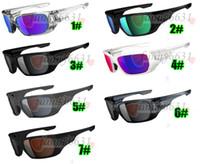 las mujeres montan gafas al por mayor-Verano de los hombres de moda viento deslumbrante gafas de sol gafas deportivas mujeres negro Ciclismo Deportes al aire libre montar gafas de sol 7colros envío gratis