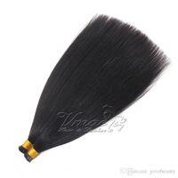 pré vierge vierge indienne achat en gros de-Indien Unprocess Keratin Pre Bâton 100% Vierge Humaine 1g Brins 100g Extension de Cheveux Yaki Prémondée I Astuce Cheveux