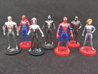 örümcek adam film figürleri toptan satış-7 adet / takım Spider-Man Örümcek-Ayet Içine Action Figure Doll oyuncaklar 2019 Yeni çocuk Karikatür film Avengers örümcek adam Şekil Oyuncak C5