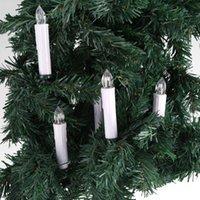 control remoto inalámbrico al por mayor-10pc llevó la luz de la vela con clips en casa fiesta de Navidad árbol de decoración a control remoto sin llama sin cuerda de Navidad velas luz T8190620