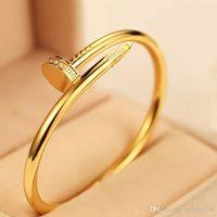 joyería popular de corea del sur al por mayor-Diseñador de la joyería de lujo nuevo tipo de plata Oro Rosa Hombres Mujeres pulseras de diamantes hacia fuera helado pulseras de cadenas joyería de los hombres pulsera de las mujeres