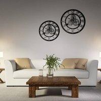 ingrosso orologi usati-European Gear Wall Clock Originalità Industria Wind Woodiness Orologio tridimensionale usato