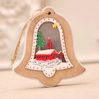 Wholesale home lighting decoration for sale - Group buy Night Lights Decoration Desktop Christmas Tree Wooden Craft Home Gift Portable Garden Pendant Hanging Ornament Led Holiday Party