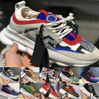kadınlar için beyaz kauçuk ayakkabılar toptan satış-2019 Zincir Reaksiyon Lüks Tasarımcı Ayakkabı Erkek Kadın Sneakers Kar Leopar Siyah Beyaz Örgü Kauçuk Deri moda kadın Rahat ayakkabılar
