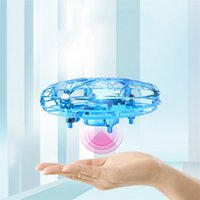 Wholesale plastic human body resale online - Best Suspension UFO Induction Drone Gesture Control Human Body Infrared Sensor Aircraft Creative toys For Children DHL free