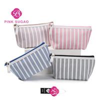 sıcak pembe makyaj çantası toptan satış-Pembe sugao makyaj çantası seyahat organizatör 2019 sıcak satış leopar büyük kapasiteli kozmetik çantaları tuvalet çantası kızlar için yüksek kaliteli makyaj çantaları