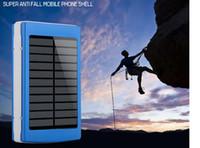 carregador usb para bateria do laptop venda por atacado-Carregador de bateria solar duplo do banco da potência externa de USB para a tabuleta do telefone com projeto rápido da proteção da luz do diodo emissor de luz que muda