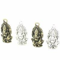 ingrosso antiquariato tailandia-Dolce Campana 180 pz / lotto 14 * 27mm Vintage Religione Thailandia Ganesha Charms Antico In Lega di Metallo Buddha Charms Gioielli Pendenti D6107