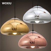 demir aydınlatma armatürleri toptan satış-WOXIU Cam Avize demir Işık Sanat Armatürü Vintage Deco Tavan Gölge Lamba nordic Stil özel ışıklar