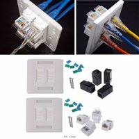 Wholesale rj45 standard for sale - Group buy Wall Plate Ports CAT5e CAT6 RJ45 Jack Network Socket mm Standard Wall Plate high Quality