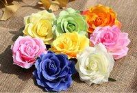 gefälschte blume stieg köpfe groihandel-Neue Rose Köpfe künstliche Blumen Kunststoff gefälschte Blumen Kopf hochwertige Seidenblumen Hochzeit Dekoration Wand versandkostenfrei