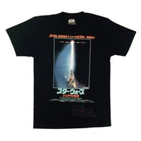 filme adulto japonês venda por atacado-Top tee retorno do Jedi japonês Movie Poster licenciado adulto camiseta