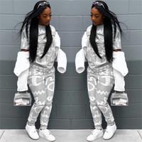 vêtements de marque femme achat en gros de-Champion Marque Designer Survêtement Femmes Lettre Imprimé Vêtements Définit Printemps Automne Outfit Mode Jogger Set Vêtements De Sport S-XL