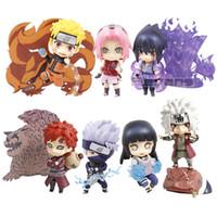 Wholesale kakashi toys resale online - Nendoroid Naruto Shippuden Uchiha Sasuke Uzumaki Naruto Hyuuga Hinata Hatake Kakashi PVC Action Figure Toy T190925