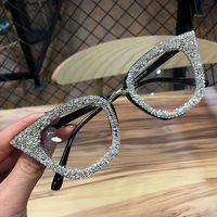 gözlük için kedi gözlü çerçeveleri toptan satış-Vintage kedi göz Gözlük çerçeve retro Kadın Marka Tasarımcısı gafas De Sol gümüş altın Düz gözlük Gafas gözlük