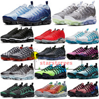 Wholesale plus size mens shoes for sale - Group buy TN Plus Running Shoes Retuned White Star Eggplant BETURE Sportswear Womens Mens Red Black Blue Sneakers Trainers Sports Size