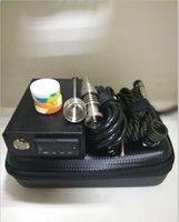 replacement coil vaporizer e cig بالجملة-رخيصة المحمولة e مسمار d- مسمار dab تلاعب كيت الكهربائية temp تحكم مربع مع 16 ملليمتر 20 ملليمتر التيتانيوم الكوارتز مسمار للزجاج أنابيب المياه
