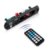 12v decoder großhandel-Heißer verkauf bluetooth 5,0 radio 5 v 12 v wireless audio receiver car kit fm modul mp3 player decoder board usb 3,5mm aux universal