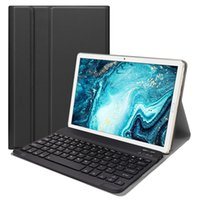Wholesale huawei tablet leather case for sale - Group buy Bluetooth Keyboard Leather Case for Huawei Mediapad M6 Inch Tablet Stand Case Detachable Wireless Keyboard Cover