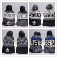 topo da folha de bordo venda por atacado-Moda Hockey Maple Leafs Chapéus de Inverno Gorros para Homens Mulheres Toronto Sports Gorros Marca Chapéu de Malha Top Quality