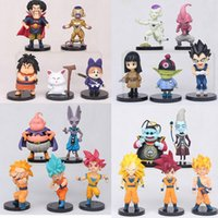 Wholesale Ball Z Anime Figure Model Toy Son Goku Priest Vegeta Pvc Collectible Figurines Toys For Children Decoration Gift Vt040