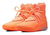 leichte götter großhandel-2019 Fear Of God Frosted Fichte Orange Pulse Light Bone Schwarz Designer Schuhe Fashion Nebel Stiefel Kissen Freizeitschuhe Größe 7-12 No Box