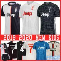 homens s ronaldo camisa venda por atacado-RONALDO Juventus Jersey de Ligt BUFFON camisa kit de futebol MEN DYBALA Mandzukic Kean Emre Can BERNARDESCHI RABIOT DYBALA JUVE campeões Leagu