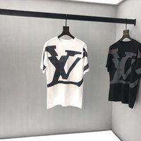 neu gedruckte t-shirts großhandel-19ss Mens Designer T-Shirts Luxus-Box große Buchstaben reflektierende T-Shirt drucken Mens Kleidung Pullover Langarm Frauen Shirts Top-Qualität Tag neu