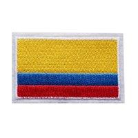 ingrosso bandiere nazionali-7 CM Ricamato Patch Colombia Bandiera Nazionale Cucire Ferro Sulle Zone Ricamo Distintivi Per Borsa Jeans Cappello T Shirt Appliques FAI DA TE Decorazione Del Mestiere