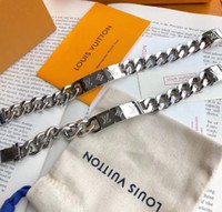 Wholesale christmas angels gifts for sale - Group buy 2019 Paris Designer Bracelets for Men Woman L Chain Louis bracelet designer bangle fashion Silver Luxury jewelry gift With box