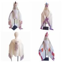 hoodie tığ işi toptan satış-Moda Unicorn Battaniye Kapüşonlu Kızlar Için Giyilebilir Tığ Örgü Atmak Sihirli Hoodie Pelerin boynuzlu at şapka pelerin ZZA833