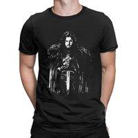 neve do jon camiseta venda por atacado-Jon Neve T-Shirt Casa De Stark Casa Targaryen T Shirt Homem Gráfico Roupas Em Torno Do Pescoço Tees de Algodão Purificado