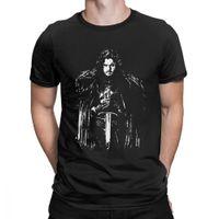 домашние хлопчатобумажные футболки оптовых-Футболка Jon Snow House Of Stark House Футболка с изображением Таргариена Мужская одежда с круглым вырезом