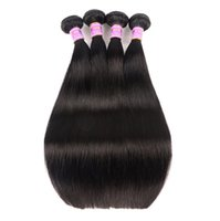 pelo brasileño pulgadas rectas al por mayor-Simulación humana corte de pelo brasileño recto cabello humano liso cabello humano paquetes negro 8-30 pulgadas