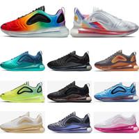 ingrosso scarpe da ginnastica gialle per gli uomini-Nike air max 720 Nuovo arrivo 720 scarpe da corsa per uomo donna Metallic Silver triple nero CARBON GRIGIO SUNSET scarpe da ginnastica traspiranti sportive sneakers taglia 36-45