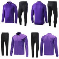 Wholesale purple kids jackets for sale - Group buy 19 tottenham tracksuit kits purple kids mens soccer jogging suits football training suit set long sleeve uniforms survetemen jacket