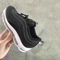 ingrosso bambina della scarpa dell'argento-Nike air max 97 OG Bambini Ragazzi Ragazze Casual 2019 Sneakers Silver Bullet Metallic Gold Athletic Walking Scarpe sportive da corsa BLACK WHITE JAPAN VOLT NUOVE