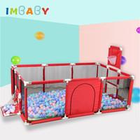ingrosso giocattoli per bambini-IMBABY Box per bambini Piscine a Balle Tenda da gioco Ampia area per recinzione per bambini Tenda per bambini Stuoia di sicurezza per bambini