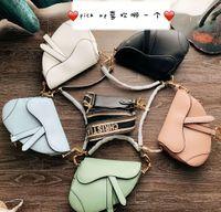 Wholesale d lady handbags for sale - Luxury classic designer handbag high quality leather ladies shoulder bag saddle bag new metal letter D handbag SYX
