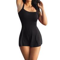 uma peça de vestidos femininos venda por atacado-Vestido de Natação Feminina Maiô Vestido 2019 Mulheres Swimwear Push-up One-piece Swimsuit