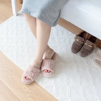 baumwollwebartteppiche großhandel-Weißer handgefertigter gewebter Teppich 100% Baumwollteppich maschinenwaschbare dauerhafte Teppiche Bodenmatte für Schlafzimmer / Küche / Flur / Wohnzimmer / Kinder