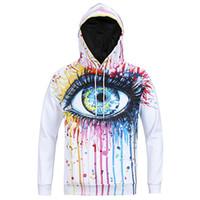 Wholesale big 3d art resale online - Warm sport Hoodie hip hop D new long sleeved Hoodie sweater and art painting big eyes new