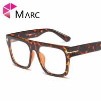 marcos de lentes titanium purple mujeres al por mayor-MARC Gafas cuadradas Marco Hombres de gran tamaño Retro Gafas ópticas Tendencia Mujeres Gafas Marco claro Diseñador de la marca oculos 95167