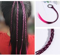 Wholesale beauty ponytails for sale - Group buy New Girls Colorful Wigs Ponytail Hair Ornament Headbands Rubber Bands Beauty Hair Bands Headwear Kids Hair Accessories Head Band
