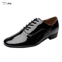 heiße lateinische kleider groihandel-Mode Für Männer Kleid Schuhe Aus Echtem Leder Solide Lace Up Rumba Walzer Prom Ballsaal Latin Salsa Tanzschuhe Spitz Formale Heißer