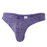 Wholesale sexy pants brief man resale online - Men s Soft Briefs Underpants Knickers Shorts Sexy Underwear Thong U Convex Pouch G String T Pants Man Underpants