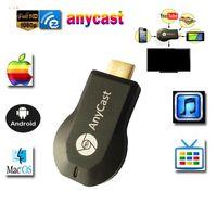 hdmi cast оптовых-Anycast m2 ezcast miracast любой литой AirPlay Crome Cast Cromecast HDMI TV Stick Wi-Fi дисплей приемник Dongle для ios andriod
