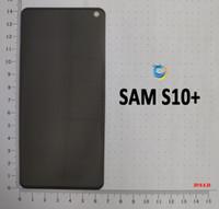 pelicula l9 al por mayor-Para Samsung S10 PLUS note 9 10 8 3D Protector de pantalla de vidrio templado de privacidad Unti Spy Glass Film con embalaje al por menor
